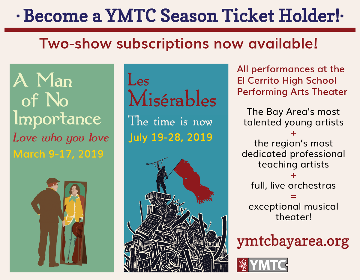 In YMTC's fourteenth season, we are thrilled to be producing three exciting  shows! Diverse in content and style, all touch on themes of tolerance, ...